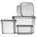 Image de la catégorie Pots Plastiques Carrés Large Ouverture