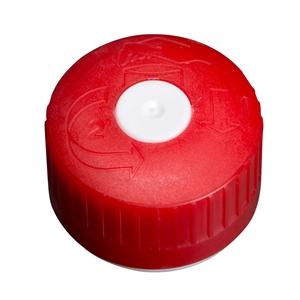 Image sur Bouchon à vis DIN38KV rouge/blanc avec joint