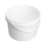 Afbeeldingen van Emmer 2,5L wit met plastic handvat