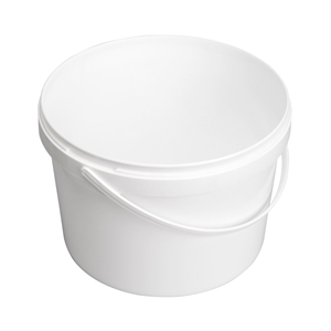 Image sur Seau 2,5L blanc avec anse en plastique