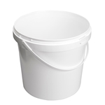 Image de Seau 10L blanc avec anse en plastique