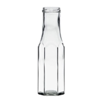 Afbeeldingen van Sausfles hexagonaal  250ml glas TO43 clear