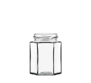 Image sur Bocal hexagonal 280ml verre TO63 transparent