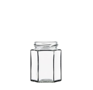 Image sur Bocal hexagonal 195ml verre TO58 transparent