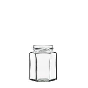 Image sur Bocal hexagonal 110ml verre TO48 transparent